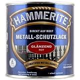 AKZO NOBEL (DIY Hammerite) 5087583 metaalbeschermende lak Hammerite metaallak glanzend 0,250 L, rood, 250 ml