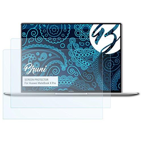 Bruni Schutzfolie kompatibel mit Huawei MateBook X Pro Folie, glasklare Bildschirmschutzfolie (2X)