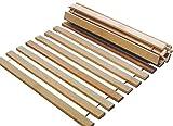 Rollrost 140x200 11 Leisten nicht verstellbar unverstellbar Fichtenholz Rolllattenrost