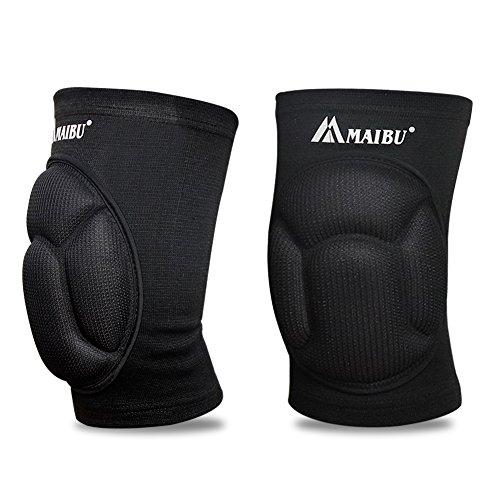 MAIBU Kniepolster (1 Paar) Schmerzlinderung Dick Schwamm Kollision Vermeidung Kneepad Anti-Rutsch Skating Tanz Volleyball Beschützer