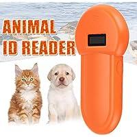 Dastrues Animal ID Reader 134.2Khz Animal ID Reader Pantalla LCD RFID Pet Pet Microchip Reconocimiento Ear Tag Scanner