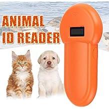 Dastrues 134.2Khz Animal ID Reader Pantalla LCD RFID Pet Pet Microchip Reconocimiento Ear Tag Scanner