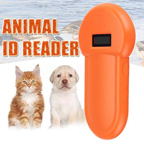Dastrues 134,2 kHz Tier ID Reader LCD Display RFID Tragbare Haustier Microchip Erkennung Ohrmarke Scanner