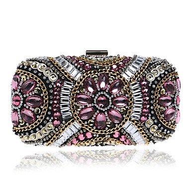 SUNNY KEY-Pochette e Clutch@Donna Poliestere Formale / Casual / Serata/evento / Matrimonio / Ufficio e lavoro / Shopping Borsa da sera Bianco / Rosa / Nero , pink pink