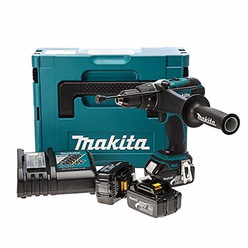 Makita DHP458RF3J 18V Cordless Compact 2-Speed Combi