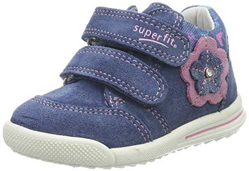 Superfit Baby Mädchen Avrile Mini Sneaker, Blau/Rosa 80, 25 EU