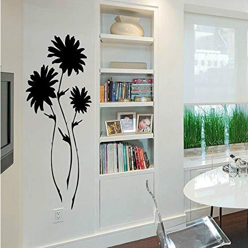 BailongXiao Wohnzimmer Dekoration Vinyl wandtattoo Blume entfernbare wandkunst Aufkleber Schlafzimmer Pflanze natürliche Aufkleber 39x102 cm