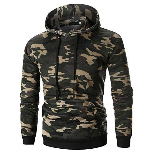 Herren Pullover,TWBB Camouflage Drucken Kapuzenpullover Herbst Winter Sweatshirt Fit Mit Kapuze Lange Ärmel Tops Mantel Outwear