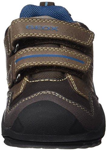 Geox J New Savage Boy A, Chaussures avec Fermeture Velcro Garçon Braun (Brown/Dk PETROLC6F4Q)