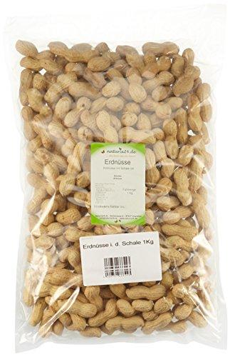 Preisvergleich Produktbild Naturix24 Erdnüsse in der Schale ungeröstet – Beutel,  2er Pack (2 x 1 kg)