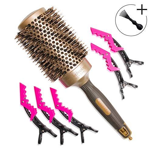 Cepillo profesional pelo jabalí redondo 53 mm uso