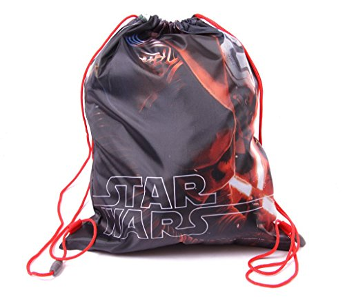 IMTD Jungen Star Wars Enviromental Toothbrush Kordelzug Zahnbürste PE Schule Spiele Urlaub Tasche Darth Vader Jedi Stormtrooper Gr. Einheitsgröße, Star Wars