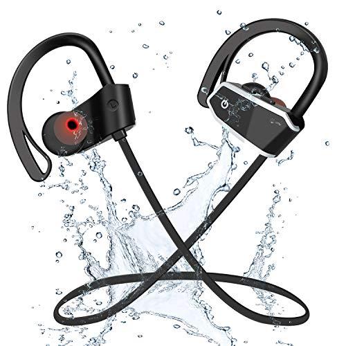 Auriculares Bluetooth Deportivos,Voberry IPX7 Impermeables Auriculares Inalámbricos,Micrófono Incorporado con Sonido Estéreo,Cancelación de Ruido CVC 6.0 Running Auriculares(A)
