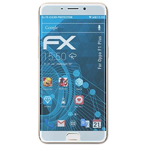 atFolix Schutzfolie kompatibel mit Oppo F1 Plus / R9 Folie, ultraklare FX Bildschirmschutzfolie (3X)