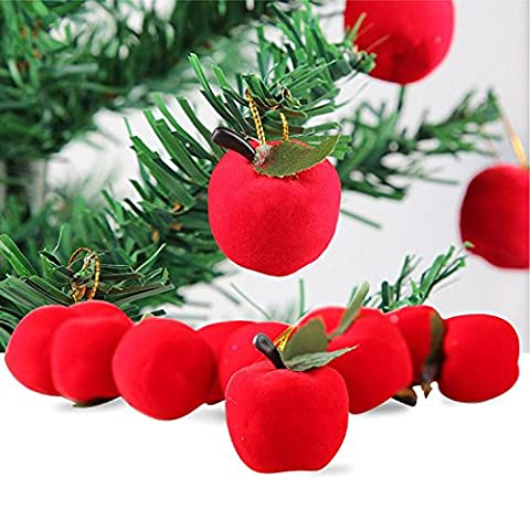 Kingko® 12 PCS Christmas Tree Fruit Pendant Decoration Supplies Festival Party Hanging Ornament