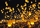 Best Sky Lanterns - Colorful Flying Chinese Lanterns (Pack of 100)