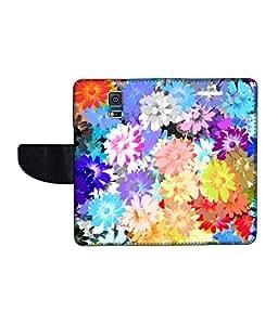 KolorEdge Printed Flip Cover For Samsung Galaxy S5 Multicolor -(50KeMLogo12053SamS5)