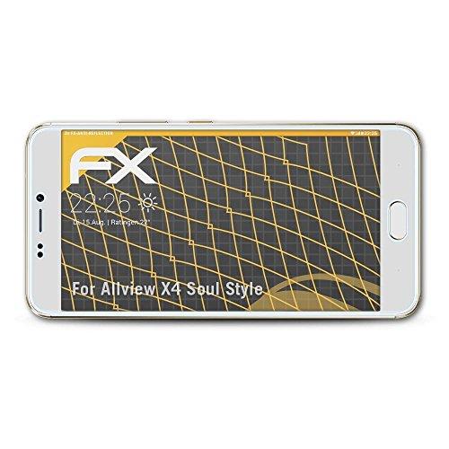atFolix Panzerfolie kompatibel mit Allview X4 Soul Style Schutzfolie, entspiegelnde & stoßdämpfende FX Folie (3X)