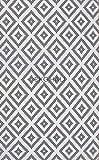 EKO Luna waschbar! Moderner Ethnischer Teppich mit bedrucktem Teppich, ideal für Wohnzimmer, Esszimmer, Schlafzimmer, Polyester LN34, Weiß/Grau, Polyester, weiß, 120 * 180