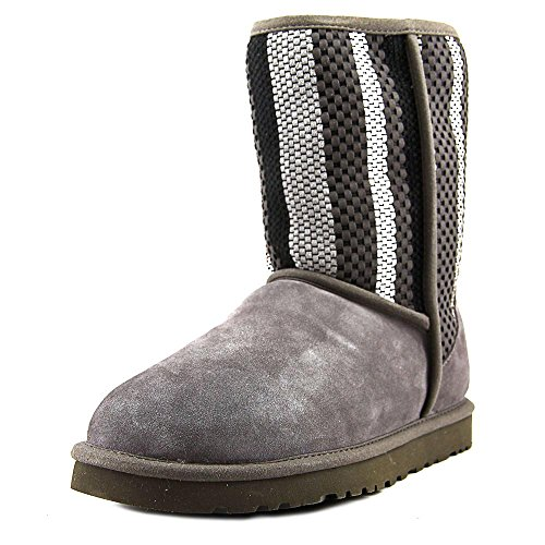 UGGClassic Short Woven Suede - Stivali Donna Grigio (charcoal)