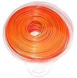 Aerzetix–Rosso Stella profilo Nylon filo decespugliatore Lenza per trimmer decespugliatore Weeder 2.4mm 103m c18617