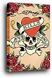 Ed Hardy Poster als Blockbild - Liebe Tötet Langsam (91 x 61cm)