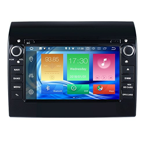 "Harfey H32586G Single Din Auto Stereo 7"" Android 8.0 GPS Navigation für 2007-2016 FIAT Ducato Touchscreen Bluetooth Autoradio mit DVD-Player Wifi/AM / UKW/Aux / USB Receiver Audio System"