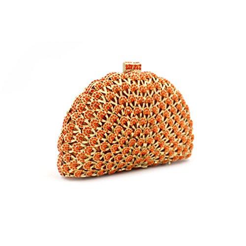Damen-Luxus-Diamant-Abendtasche Kristall-Bankett-Tasche Red
