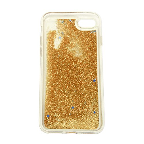 finoo | Iphone 6 Plus / 6S Plus Flüssige Liquid Goldene Glitzer Bling Bling Handy-Hülle | Rundum Silikon Schutz-hülle + Muster | Weicher TPU Bumper Case Cover | Katze auf Ast Kleine Katze