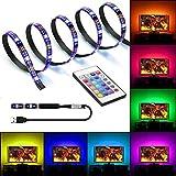 USB LED Strip TV Hintergrundbeleuchtung 2M LED Streifen Für TV Dekoration, USB Lichtleiste USB LED Band 2M 5050SMD RGB Lichterkette LED Stripes mit Fernbedienung 16 Mehrfarbige Stimmung Licht (2M)