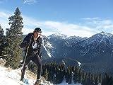 Mountain Yoyo M Serie Ultra Light Gewicht (Aviation Aluminium der Legierung 7075) (198g, Arbeitshemd) Wanderstöcke Trekkingstock Walking Stock faltbar Herren Frauen, A Pair of Black, 124,97 cm -