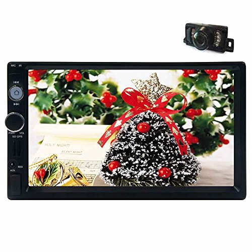 Auto Stereo-navigations-systeme (EinCar Doppel-DIN-7 '' Auto-Stereo-MP5 Linux-System Digital Touch Screen GPS-Navigation Autoradio Auto-Multimedia-Empf?nger-Unterst¨¹tzung 1080P Video / USB / SD 8GB Karte Karte mit Backup-Kamera)