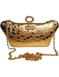 Women's/Ladies/Girl's Handbag/Purse | Clutch | Bandhanwar/Door Toran, Door Hanging, Jhoomer Like Golden Design...