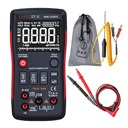 ZT-X Digitalmultimeter Gleichspannungs-Voltmeter True RMS Auto Range Multimeter mit NCV Data HOLD LCD-Hintergrundbeleuchtungsanzeige Wireless-true Rms Multimeter