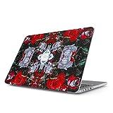 BURGA Hülle Kompatibel Für MacBook Pro 15 Zoll Aus Den Jahren 2012-2015, Modell: A1398 Retina Display Perfect Illusion Rot Rosen Blumenmuster Blumen Mode Plastik Case