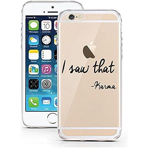 iPhone Cover di licaso® per il Apple iPhone 6 & 6S di TPU Silicone Karma I Saw That Life is a B**** Modello molto sottile protegge il tuo iPhone 6 & 6S con stile Cover e Bumper