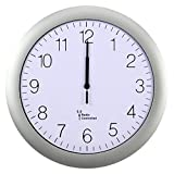 Mecotech Funkuhr Lautlos, 12 Zoll(30cm) Funk Wanduhr Lautlos Modern Radio Funkuhr Geräuschlos Wanduhr Uhr ohne Tickgeräusche (Silber)
