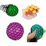 Skky Bell Anti Stress Mesh/ Spongy Ball Toy Grape Stress Relief Squeezing Ball(Pack Of 2)