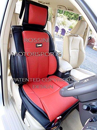 che si adatta a Nissan NP300Navara, coprisedili per auto, Ys 06rosso/nero ROSSINI Recaro PVC ,2front