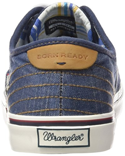 Wrangler Legend, Baskets Basses homme Bleu - Blau (102 DENIM)