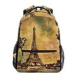Ahomy Schulrucksack Buchtasche für Teenager Mädchen Jungen Eiffelturm in Paris Retro Stil Reiserucksack Umhängetasche Wandertasche für Damen Herren