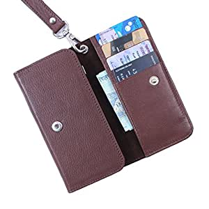 Dooda Genuine Leather Wallet Pouch Case For Sony Xperia Z Ultra (BROWN)