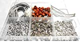 #7: Silk thread necklace making all silver materials kit- with free necklace storage box