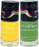Best Cherry Nail Polish Sets - Color Fever Nail Gloss and Polish Set, Yellow/Green Review