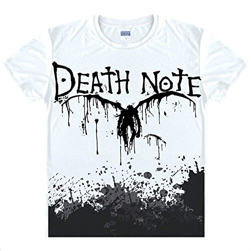 Death Note T-Shirt Anime Kostüm Cosplay Weiß