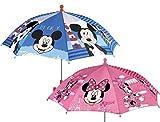 Perletti 50118Schärfer Unisex 38/8Man Bedruckt Mickey und Minnie Sicherheit Öffnender Regenschirm
