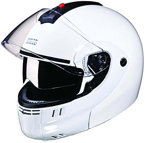 Studds Ninja 3G SUS_N3GDVFFH_WHEL Full Face Helmet with Double Visor (White, L)