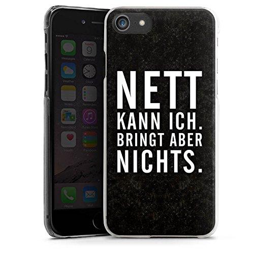 Apple iPhone X Silikon Hülle Case Schutzhülle Nett Leben Humor Hard Case transparent