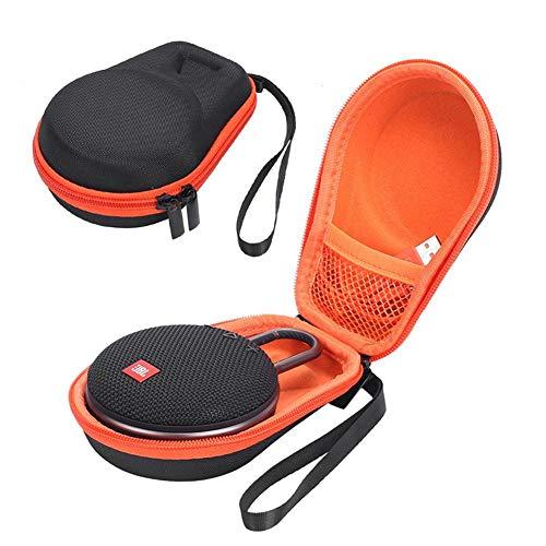 Jinclonder, Sac Audio Bluetooth étanche à la poussière, résistant aux Chocs, Sac de Rangement Universel Bluetooth Audio Bag pour JBL CLIP2 CLIP3 pour Les Voyages, extérieur/intérieur