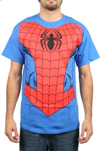 Spider-Man - - Spidey-Kostüm Jumbo Herren T-Shirt in Royal, X-Large, (Spidey Kostüme)